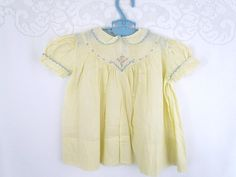Saks Fifth Avenue Vintage Baby Dress Made in France