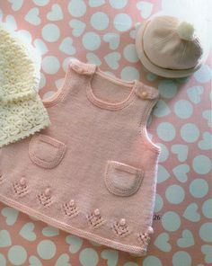 Free knitted baby dress patterns & Baby knitting pattern] Source by piercesharons Knit Baby Dress, Knitted Baby Clothes, Baby Cardigan, Cardigan Pattern, Baby Knits, Pattern Dress, Toddler Cardigan, Baby Vest, Beanie Pattern