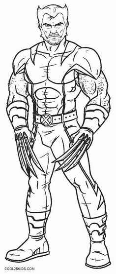 Avengers Wolverine Coloring Pages : Printable spiderman coloring pages for kids cool bkids