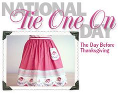 """the day before Thanksgiving is national """"tie one on"""" day celebrating the institution that is aprons!"""