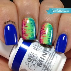 Gelish Colors of Paradise Tie Dye Nail Art