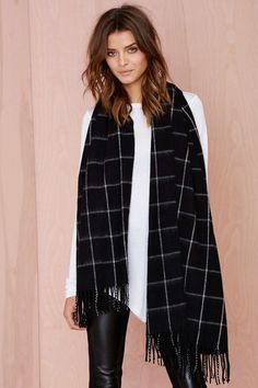 Get in Line Cashmere Scarf