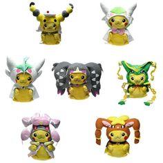 Plush Pikachu Wearing Ampharos Maniac Costume Toys Gift 8 inch