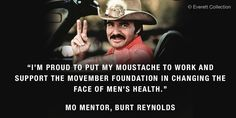 Q&A with Burt Reynolds — Mo Mentor, moustache icon, and celebrated actor (and author!)...
