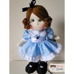 Boneca de pano Alice Modelo 2  - 40cm