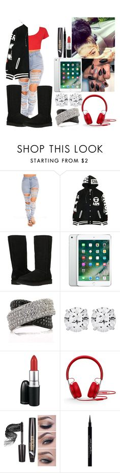 """""""Black Boots"""" by creative-qveen ❤ liked on Polyvore featuring UGG Australia, Mark Broumand, CARAT*, MAC Cosmetics, Beats by Dr. Dre and Givenchy"""