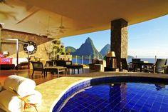 Jade Mountain St. Lucia | dreamy engagement spot