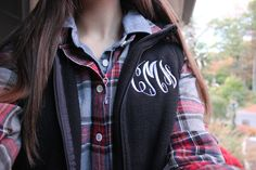 Favorite thing in my wardrobe, a monogrammed vest