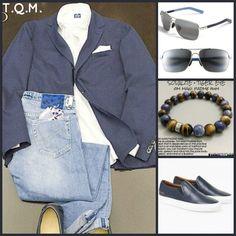 WEEKEND(JEAN STYLE)-Cantarelli(Cotton Blazer)-Jacob Cohen(Jeans)-Mauri Jim(Shades)-Karma Arm(Bracelet)-Common Project(Shoes)
