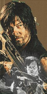 Daryl- The Walking Dead Fan Art - (GIF IMAGE - Click to view Animation)