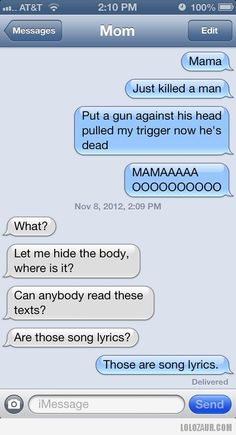 Mama i just killed a man