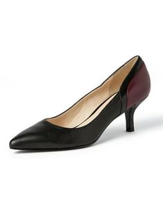 NINE WEST - switching leather pumps