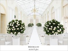The Orangery set up for a ceremony at Blenheim Palace