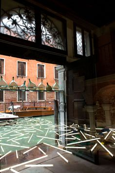 Bill Culbert | Daylight Flotsam Venice (reflected in window) with Level, 2013