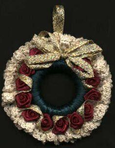 Victorian Rose Wreath Ornament