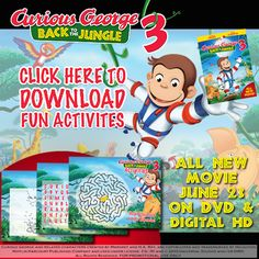 Whirlwind of Surprises: Weekend Activities for the #Movie Lover -#CuriousGeorge #review, #Free #printables and #recipes, and more! #entertainment #antman #insideout #ad