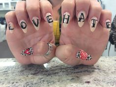 Nails by Cas #love#hate