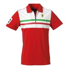 FERRARI Vintage exclusive short-sleeved polo shirt available on store.ferrari.com #FerrariStore #vintage #polo