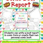 Your students will be completely engaged in this COMIC Book Report!  This is a fun way your students can show what they have learned about a book.