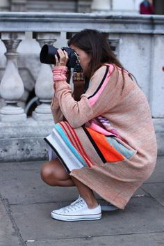 Who doesn't want a long stripy knit dress?
