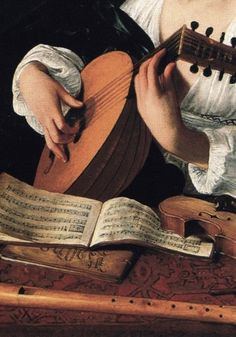 The Lute Player (detail), Caravaggio