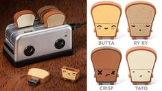 Adorable Tiny Toaster USB Hub