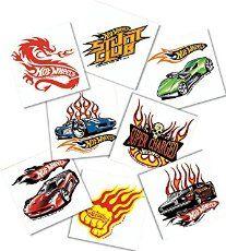Hot Wheels Tattoos - 16/Pkg._.