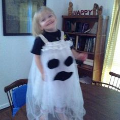Isabella's Halloween ghost made by glam ma