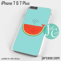 Watermelon Whale Art Phone case for iPhone 7 and 7 Plus