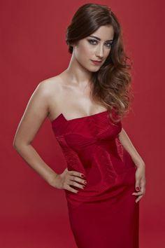 Hazal Kaya Photo with Red Dress