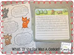 The Gingerbread Man:  What if the fox was a cookie? writing activity