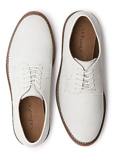 Perfect for weddings and slightly formal events. Pair 'em with a cotton suit and don't be afraid of getting them dirty—they'll look better that way.  Buckingham Buc ($98) by G.H. Bass & Co., ghbass.com   - Esquire.com