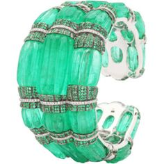 Nirav Modi Emerald Cuff Bracelet