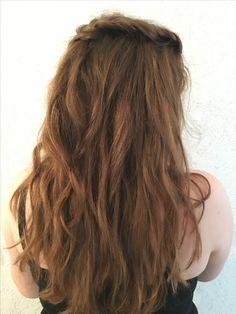 #hairs #waves #locken #Frisur #Abschlussball  #prom #mittellangeshaar