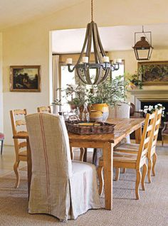 Gorgeous French Country Dining Table & Chairs  Drapery Beauteous End Chairs For Dining Room 2018