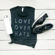 c4125fc4 Love Over Hate, Muscle Tank, Graphic Tee, Peace, No Violence, Love,  Feminist Top, Yoga Top, Gym Top, Tank, Clothing, Gift for Her