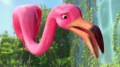 """""""Gnomeo & Juliet"""" featured a pink lawn flamingo named """"Featherstone""""."""
