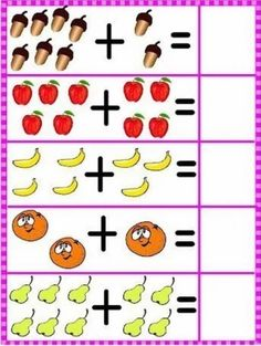 l2 Kindergarten Addition Worksheets, Kindergarten Math Worksheets, Preschool Learning Activities, Preschool Printables, Preschool Math, Kindergarten Special Education, Flashcards For Kids, Numbers Preschool, Math For Kids
