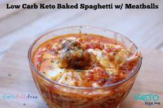Killer Keto Baked Spaghetti recipe. Low Carb, Gluten Free, High Fat, Kid Friendly, Keto Recipe. Your family will love this LCHF recipe!