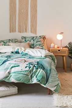 Deny Designs Gale Switzer For Deny Tropical State Duvet Cover - March 09 2019 at Interior Tropical, Tropical Bedroom Decor, Tropical Bedrooms, Home Decor Bedroom, Modern Bedroom, Tropical Decor, Bedroom Ideas, Tropical Bedding, Tropical Master Bedroom