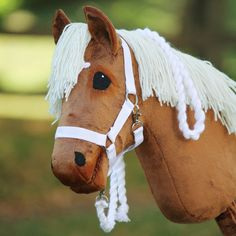 I have lots of material for tack - especially for browbands - so you can give me your plan and let's decide together which materials. Horse Stables, Horse Tack, Stick Horses, Hobby Horse, Pony, Animals, Cute Animal Drawings, Cartoons, Horses