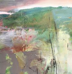 Springtime Prairie-Abstract Landscape by Joan Fullerton Mixed Media ~ x Abstract Landscape Painting, Seascape Paintings, Watercolor Landscape, Landscape Art, Landscape Paintings, Art Paintings, Urban Landscape, Contemporary Abstract Art, Modern Art