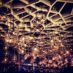 Even the ceilings sparkle at #HongKong's Ritz-Carlton hotel. Swing by the Ozone Sky Bar on the 118th Floor for Asian tapas and champagne cocktails.