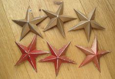 I have to make some of these (if only we bought canned drinks!). Festive Stars made from Recycled Drinks Cans | Milomade