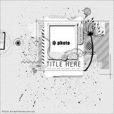 ScrapFriends - All about Scrapbooking: Monthly Sketch Inspiration Scrapbook Blog, Scrapbook Layout Sketches, Scrapbook Templates, Scrapbook Designs, Card Sketches, Scrapbook Paper Crafts, Scrapbooking Layouts, Scrapbook Cards, Scrapbook Photos