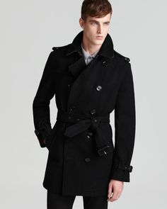 Burberry Brit Britton Double Breasted Wool Coat | Bloomingdale's