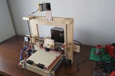 DIY Printer: How to Make a Printer That Anyone Can Do - Printer Pen - Ideas of Printer Pen - DIY Printer: How to Make a Printer That Anyone Can Do: 7 Steps (with Pictures) Make 3d Printer, 3d Printing Diy, Homemade 3d Printer, 3d Printer Projects, 3d Pen, 3d Design, Arduino, Canning, Simple