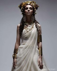 Funky Goddess Photography - The White Sposa Italy 'OLIMPIA' Editorial Plays With Ancient Greek Theme (GALLERY)