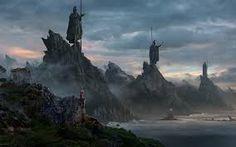 Bildergebnis für dark fantasy landscape wallpaper