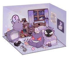 150 Pokemon, Ghost Pokemon, Pokemon Memes, Pokemon Fan Art, Cute Pokemon Wallpaper, Cute Cartoon Wallpapers, Ghost Type, Cute Pokemon Pictures, Pokemon Eeveelutions